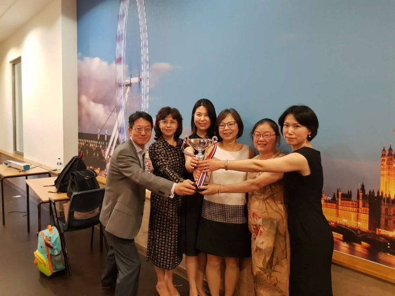 Our school won the Top Ten Outstanding Chinese School in the UK trophies